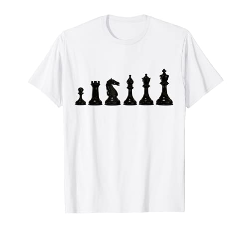 Schachfiguren King Pferd T-Shirt Schach Karneval Kostüm T-Shirt