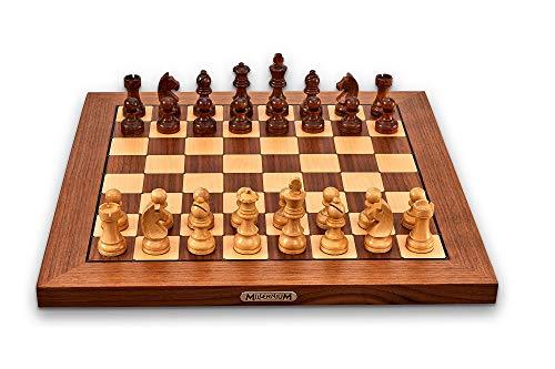 Millennium M820 ChessGenius Exclusive - Schachcomputer für höchsten Komfort und Anspruch. In Echtholz mit vollautomatischer Figurenerkennung. Online spielen via ChessLink-Modul & App.