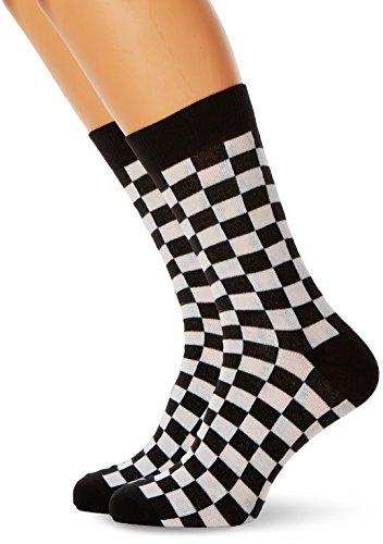 Urban Classics Herren Checker 2-Pack Socken, Mehrfarbig (Black/White 00826), 43/46 (Herstellergröße: 43-46)