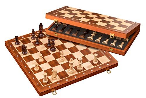 Philos 2611 - Schach, Schachspiel, Schachkassette, Feld 50 mm, Königshöhe 90 mm