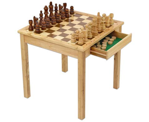 Betzold 44418 Maxi Holz Schach und Dame mit XXL Schach-Figuren, mehrfarbig, 68 x 68 x 68 cm