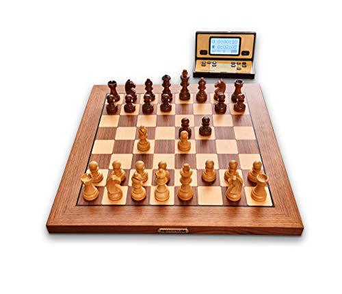 MILLENNIUM ChessGenius Exclusive - Schachcomputer für höchsten Komfort und Anspruch - In Echtholz mit vollautomatischer Figurenerkennung