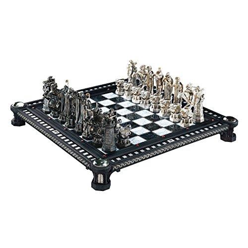 Elbenwald Harry Potter Schachspiel Nachbildung aus Stein der Weisen Schachbrett Hartholz Schachfiguren lizenziert 50 x 50cm