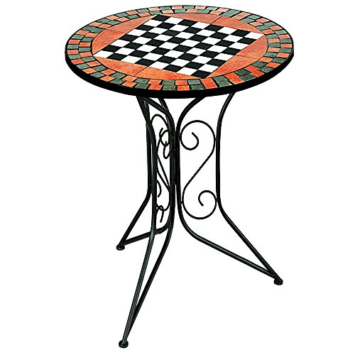 Deuba e.K. Luxus Mosaiktisch Schachtisch Mosaik Tisch