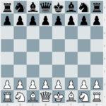 Schachfiguren Grundstellung beim Schach