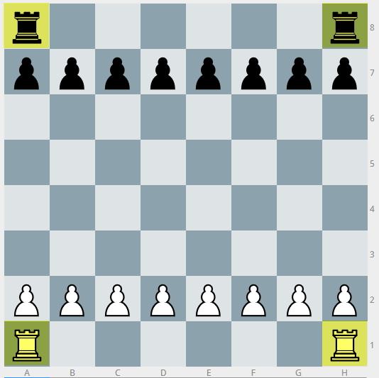 Schachfiguren Aufstellung der Türme